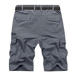 Image 5 - LOMAIYI Men Shorts Mens Cargo Shorts Army Green Mens Summer Travel Casual Shorts Military Style Loose Short Hombre AM369