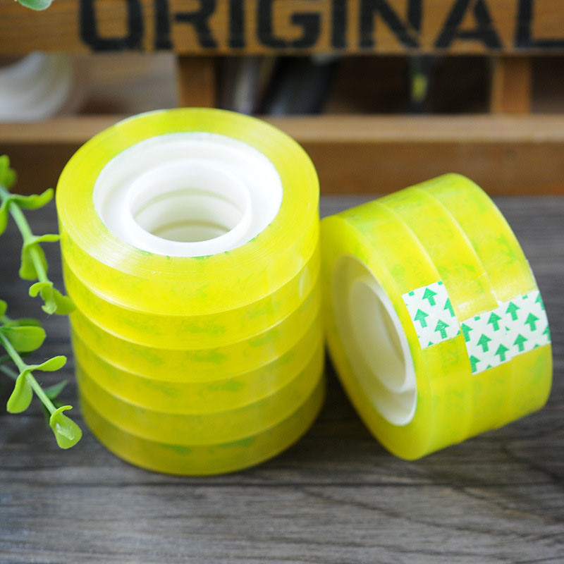 1pc Office Stationery Adhesive Tape Self-Adhesive Student Tape 1cm * 25m Learning Office Supplies Transparent Small Tape