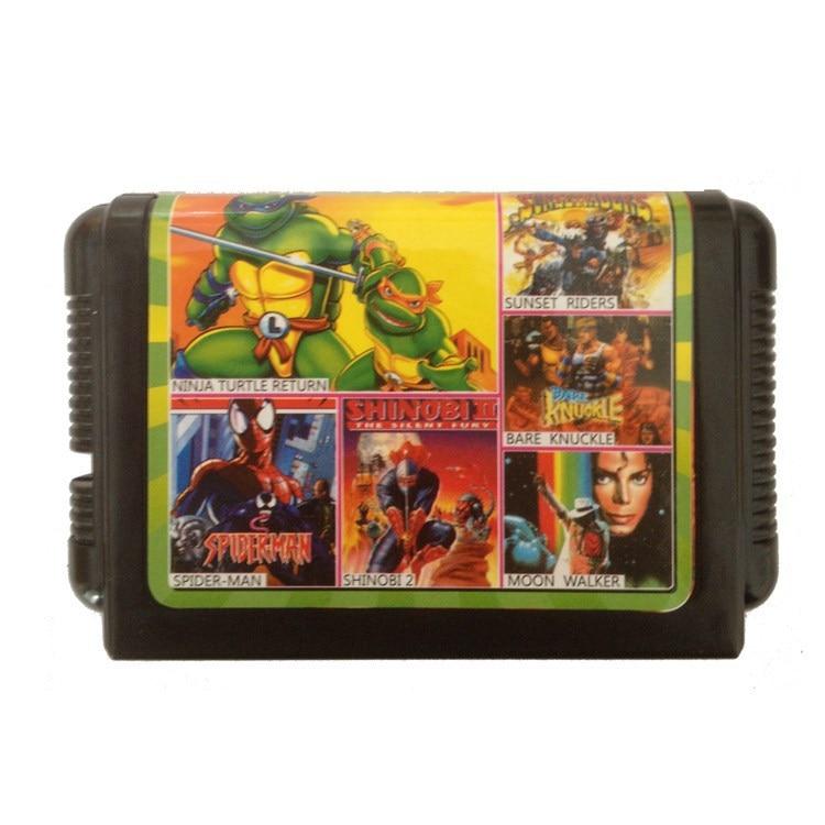 Sega cartridges genesis MD 16 bit game card multi game card—-TH017