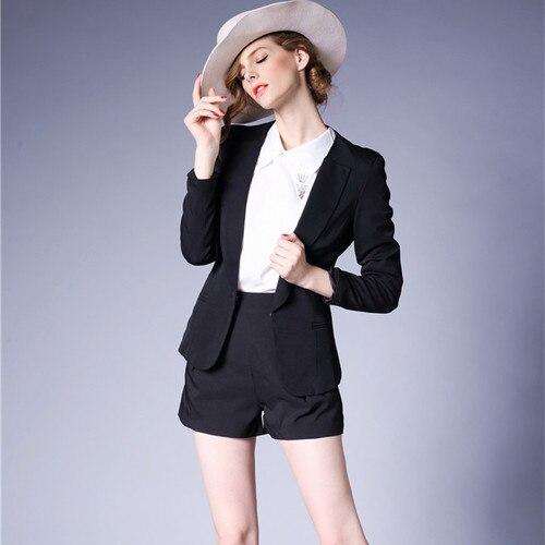 J43984 Fashion New Arrival Black Women Blazer High Quality Ofiice Lady Business Suit Blazer Jacket