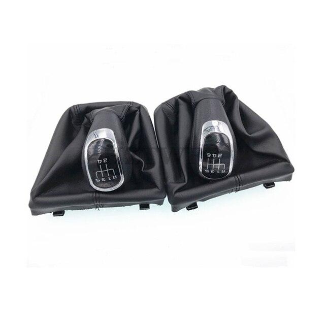 High Quality 5 6 Speed Car Gear Shift Knobs With Giator Leather Boot For Skoda Octavia Ii 09-12 Yeti 09-12 Gear Knob