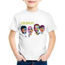 Coldplay Print T-Shirt Boys Girls Toddlers Kids