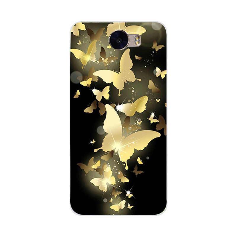 Telefon Fall Für Huawei Y5ii Y6 II Kompakte Y6 II mini Weiche Abdeckung Für Coque Huawei Y5ii Blume Gedruckt Minnie maus Weiche Silikon
