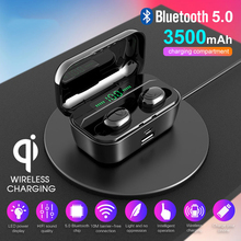 цена на 3500mah G6S tws T1 Pro Bluetooth 5.0 Earphone Wireless Stereo Bass Earbuds headsets With Mic wireless Charging for smartphones