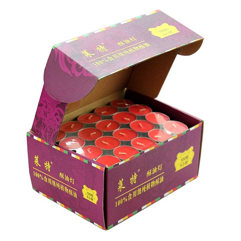 Rouge petite bougie lumière jaune beurre lampe thé lumières bougies décoratives Mini Halloween bougie Velas Aniversario Candels 30KO303