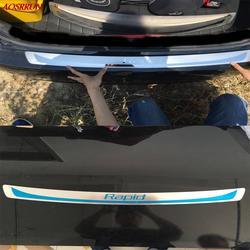 Шт. 1 шт. нержавеющая сталь заднего бампера протектор Чехлы для мангала skoda rapid 2012 2013 2014 2015 2017 2016 Авто интимные аксессуары стайлинга