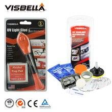 Visbella 5 Second Fix Liquid Plastic Welding UV Light repair Pen Curing Glue and Headlamp Restoration Kits Car Headlight Clean