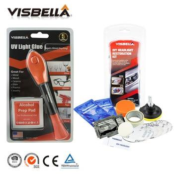 4ac6174809aa Visbella 5 segundo arreglar líquido de soldadura de plástico luz UV pluma de  la reparación curado pegamento y el faro de restauración Kits de coche Faro  ...