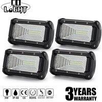 CO LIGHT 5 inch 72W LED Light Bar Flood Beam Driving Work Light 12V 24V for Offroad Auto Toyota 4WD 4x4 Jeep Boat Led Fog Lights