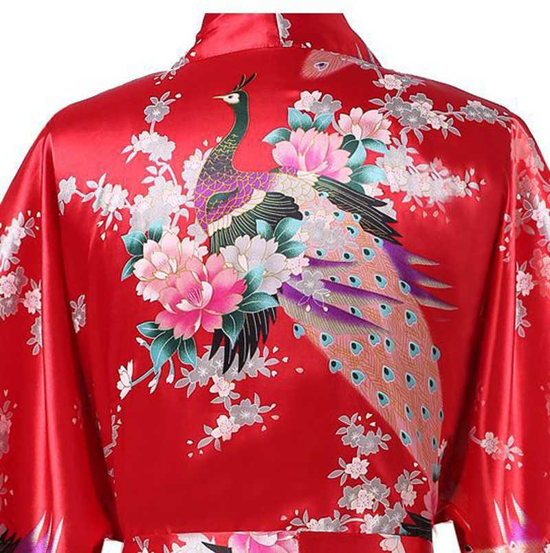 ... Blue Plus Size XXXL Chinese Women Satin Robe Gown Japanese Geisha Yukata  Kimono Bathrobe Sexy Sleepwear ... 8c13c84b0