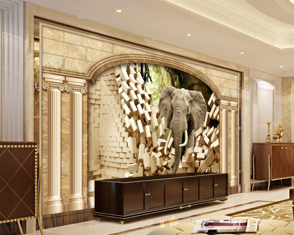 Us 1159 57 Offpapel De Parede 3d Wallpaper Ancient Rome Custom 3d Photo Elephant Wall Murals Decoration Home Hotel In Wallpapers From Home
