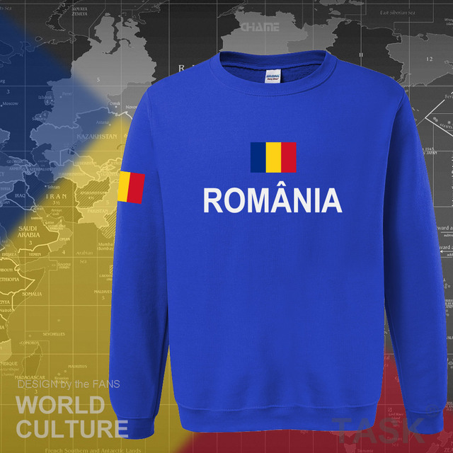Romania Romanian ROU hoodies men sweatshirt sweat new hip hop streetwear tracksuit nation footballer sporting 2017 country 3