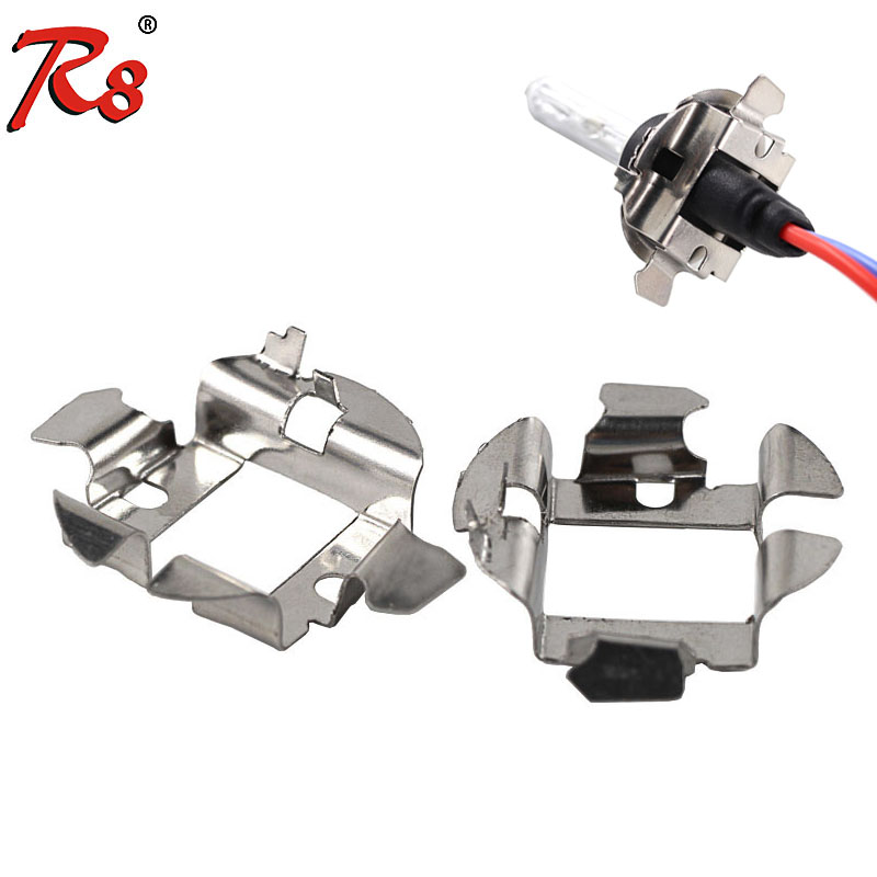 R8 Car H7 HID Xenon Headlight Bulb Base Holder Adapter Retainer For Audi A6 For BMW Mercedes Audi Saab Car Accessories Bulb Base