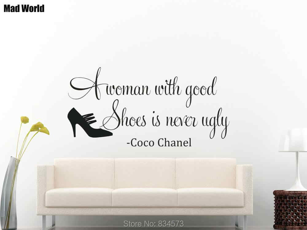 A Woman With Good Shoes Is Never Ugly Wall Art Stickers Wall