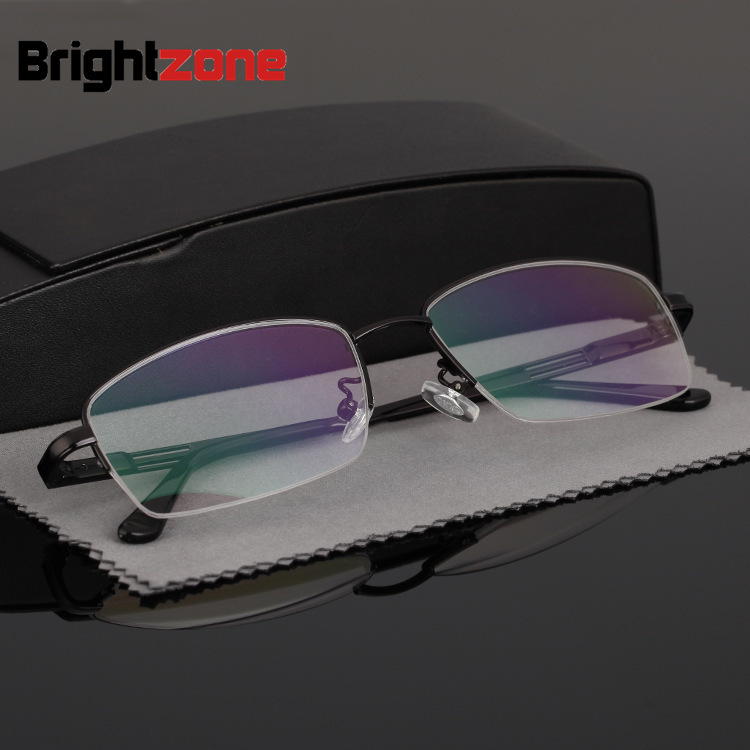 84185cbe54 Brightzon Business Affairs Exceed Light Titanium Alloy Half Optical Frame  Glasses Can Match Various High Clear