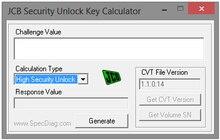 JCB SECURITY UNLOCK KEY CALCULATOR v0 2