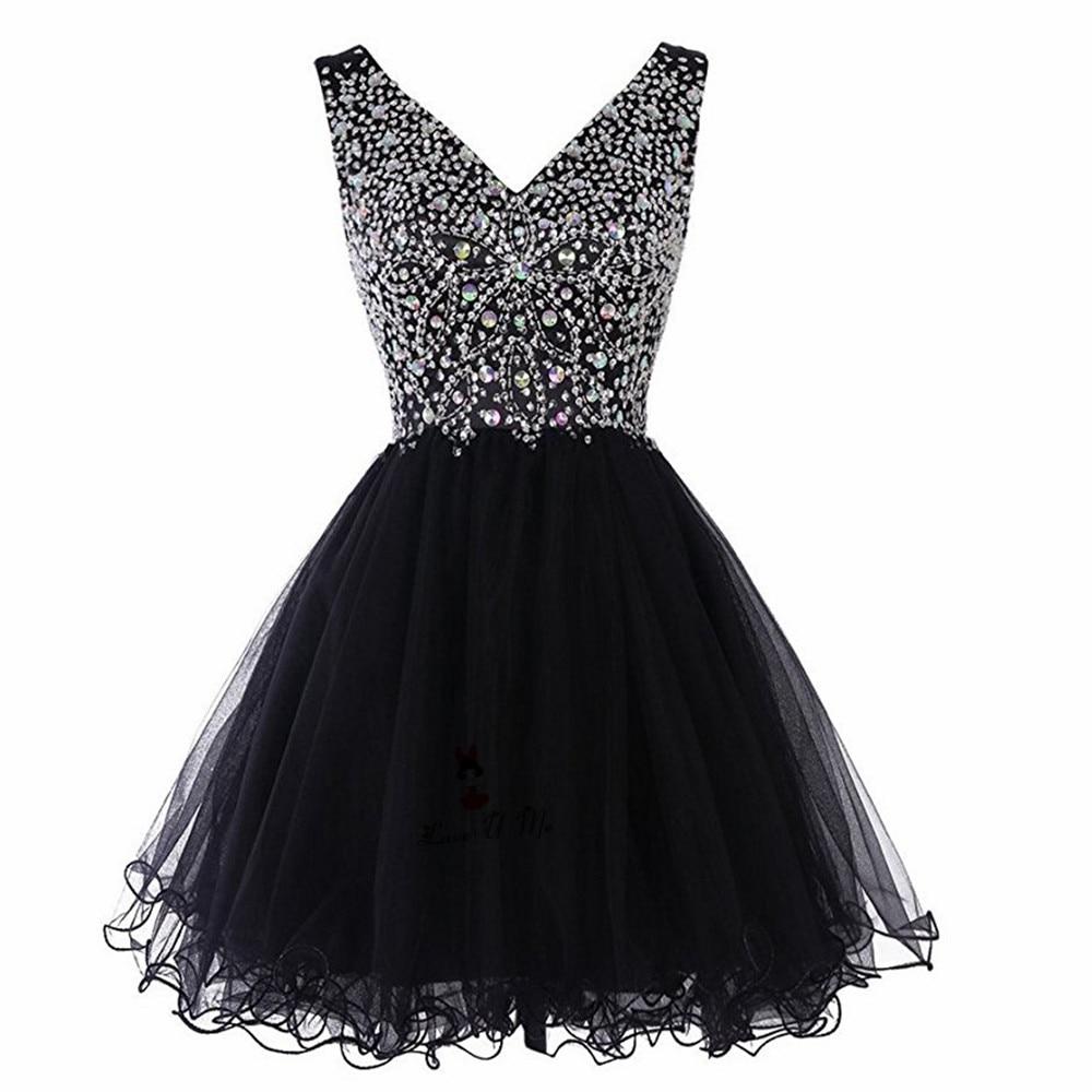 ahorros fantásticos al por mayor en línea 100% de alta calidad Vestidos cortos negros baratos Modest para graduación, Vestidos de ...