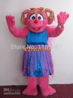 HOT SALE New Abby Cadabby Pink Fairy Halloween animal Mascot Costume Fancy Dress Animal mascot costume free shipping
