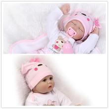 Unique Gift 55cm 22inch NPK Brand Reborn Baby Girl Doll With Pink Real Cotton Made Rompers Top Seller Bebes Benecas Brinquedos