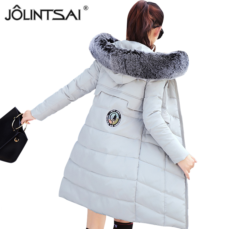 JOLINTSAI New Autumn Winter Jacket Coat Women Parka Woman Clothes Hooded Long Jacket Slim Women's Winter Jackets And Coats olgitum new autumn winter jacket coat women parka woman clothes solid long jacket slim women s winter jackets and coats cc107