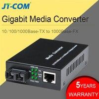 10/100/1000 M волоконно-оптический медиа-конвертер Gigabit SC Rj45 с одним режимом, дуплексный Ethernet оптоволокно переключатель трансивер 20 40 км