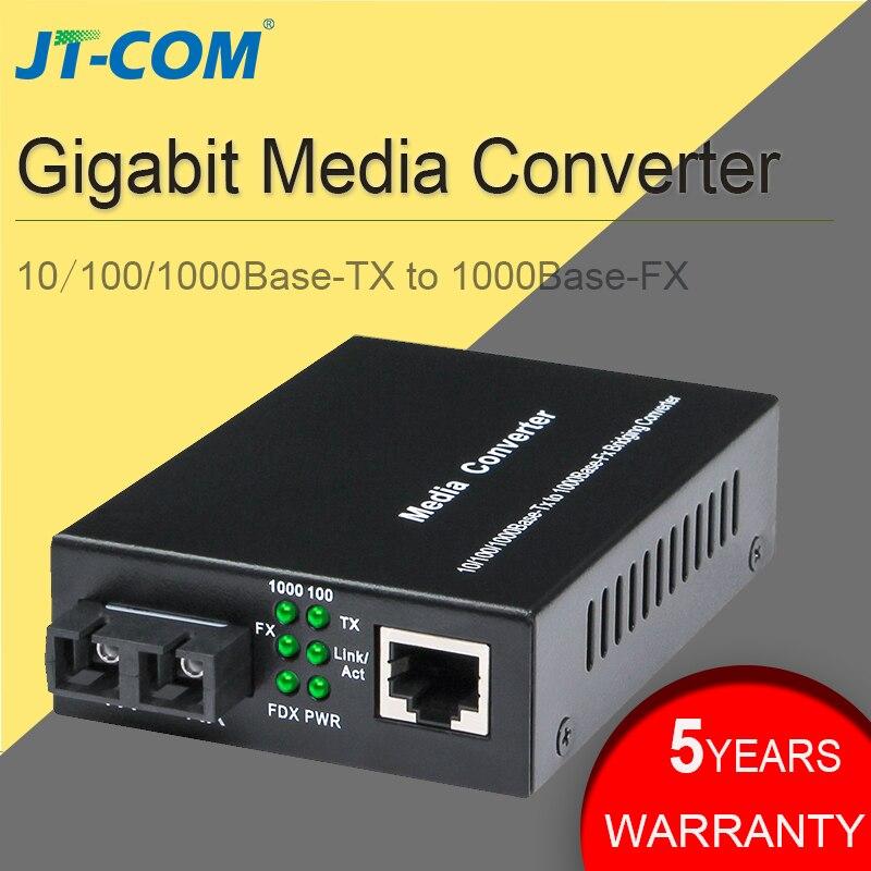 10/100/1000M Optical Fiber Media Converter Gigabit SC Rj45 Single Mode Duplex Ethernet Fibra Optica Switch Transceiver 20 40km