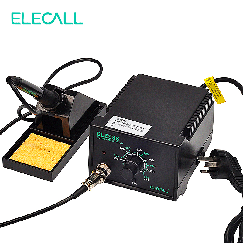 ELECALL ELE936 50W 220V Electric Iron Automatic temperature Control Anti static Metal Heater Soldering Station