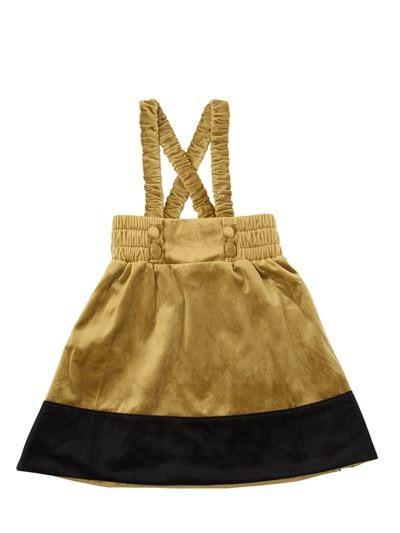 Girl Pleuche Vest Dress Bumping Color Stripe Children s Clothing Wholesale European and American Kids Dresses