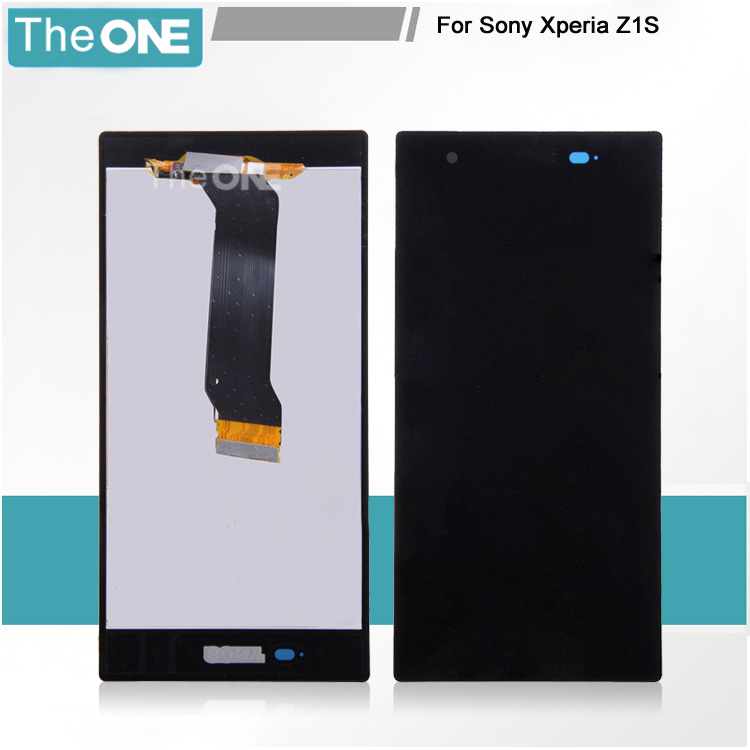 Free DHL Brand New Black LCD display Touch Screen Digitizer Assembly for Sony Xperia Z1s L39t C6916 for sony xperia z1s l39t c6916 full lcd