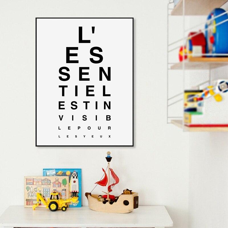 Petit Prince français citations impressions sur toile et Affiche, Le Petit Prince Affiche Citation Art peinture image enfants chambre décor