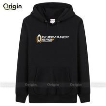New 2016 Hot Fashion Thick Warm Winter printed Normandy SR2 Casual Jackets Mens hoodie& sweatshirt boys tracksuit XXXL Plus Size