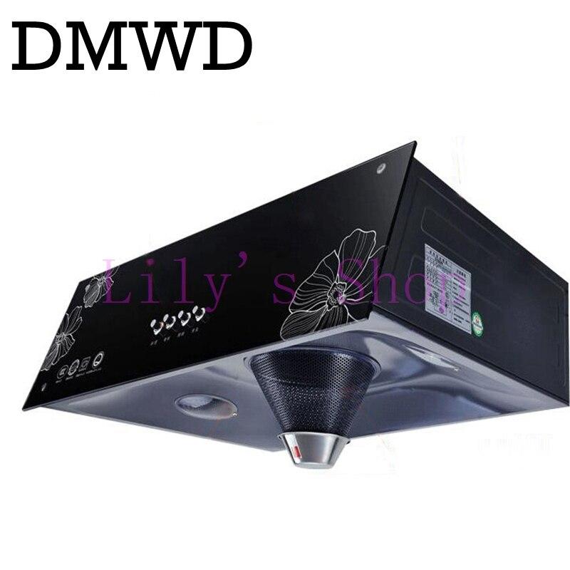 DMWD large range hoods hood exhaust fan oil smoke exhaust kitchen ventilator lampblack machine <font><b>rangehood</b></font> EU US plug