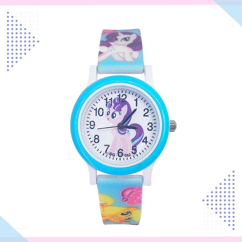 Cute Cartoon Pretty Unicorn Watch Children Kids Watches Girls Students Clock Quartz Wristwatches Pony Watch For Boys Baby Gift