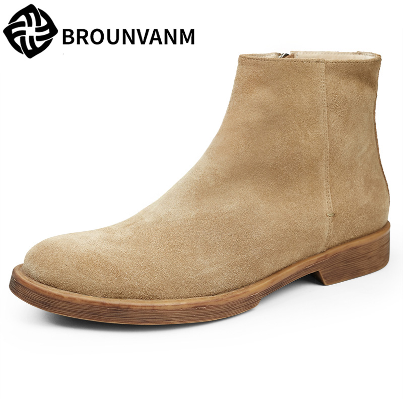 British style men Riding boots high shoes for male male leather boots fashion retro Chelsea to