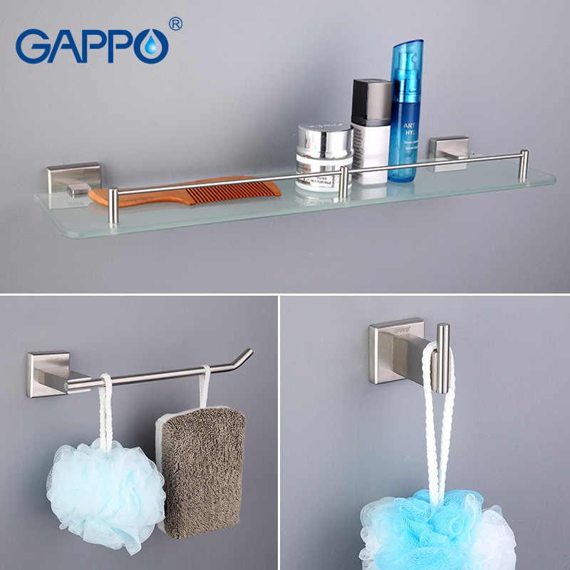 Gappo аксессуары для ванной комнаты, держатель для полотенец, держатель для туалетной бумаги, держатель для зубной щетки, банное полотенце для спины, кольцо для полотенец, наборы для ванной G17T11