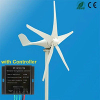 Horizontal Wind Turbine Generator Vertical 5 Blades Boat Home Power Supply Wind Generator with Controller Free Energy Eolico Kit
