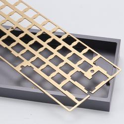 KBDfans Новое поступление отделка волосяного покрова латунная 60 пластина diy механическая клавиатура