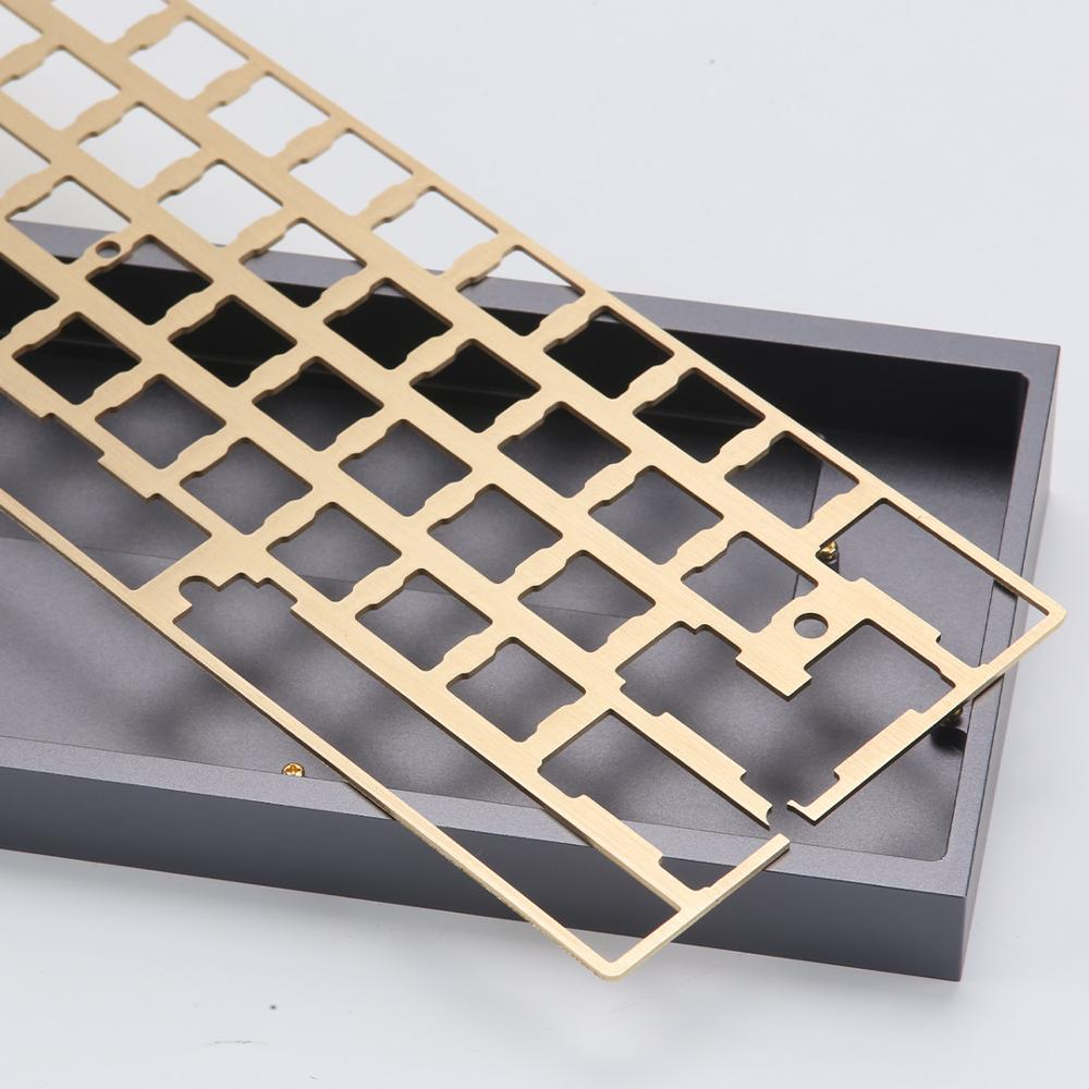KBDfans New Arrival Hairline Finish Brass 60 Plate Diy Mechanical Keyboard