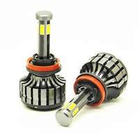 DHL shipping 50 sets 6 sides COB 55W H7 H4 9004 9007 Led Car Headlights 360 ° H8 H11 HB3 9005 HB4 9006 H13 Automotive light
