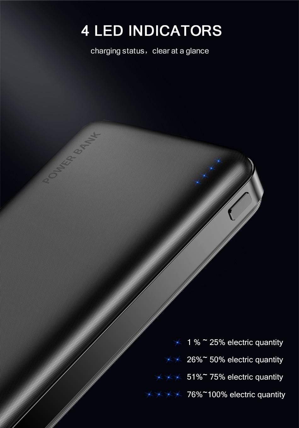 FLOVEME Power Bank 20000mAh Portable Charging Poverbank Mobile Phone External Battery Charger Powerbank 000 mAh for Xiaomi Mi 4