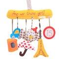 Сова Детские Музыкальные Висит Кровать Сиденье Безопасности Плюшевые Игрушки Колокольчик Многофункциональный Плюшевые Игрушки Коляски Детские Игрушки Погремушки Мобильного