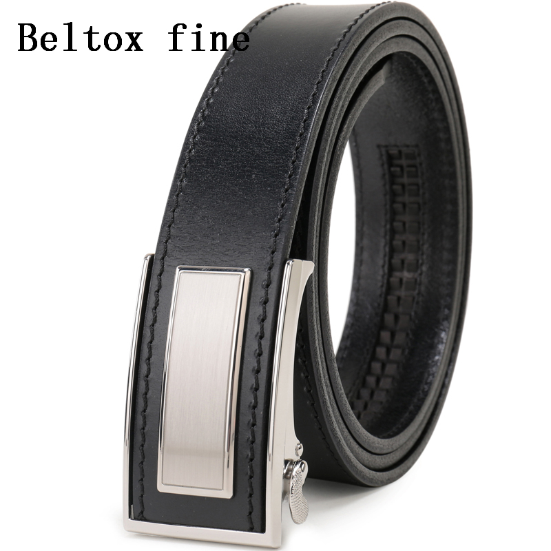 Mens Ratchet Belt Full Grain Leather Luxury Ceinture Automatic Buckle Belts For Men Fashion Waist New Designer Belts For Boys Providing Amenities For The People; Making Life Easier For The Population Apparel Accessories