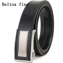 Mens Ratchet Belt Full Grain Leather Luxury Ceinture Automatic Buckle Belts For Men Fashion Waist New Designer Belts for Boys
