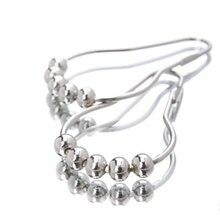 12 шт. кольцо для душевой занавески, нержавеющие крючки для душевой занавески, металлические кольца для ванной комнаты, душевые стержни, занавески s