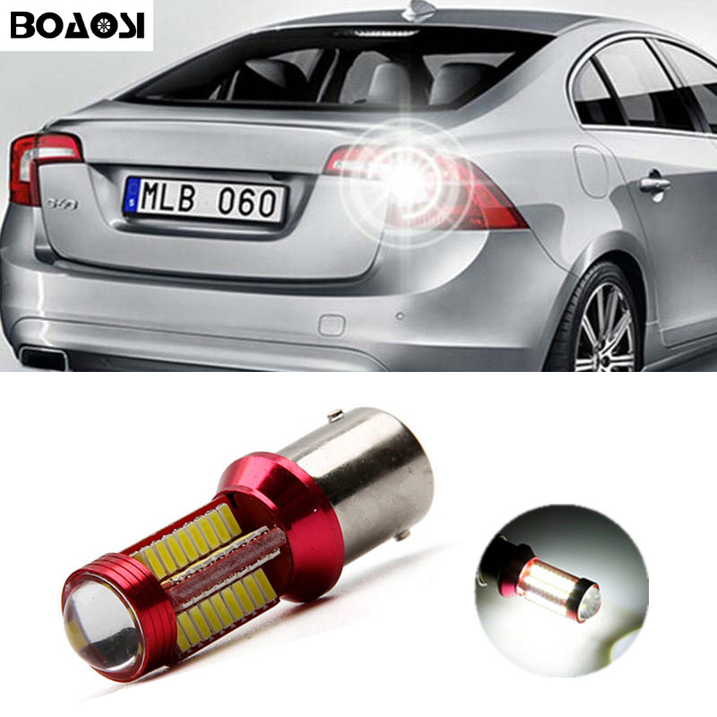 BOAOSI 1x Canbus no error backup reverse light lamp 1156 LED 4014 Chip High Power for volvo xc90 xc60 v70 s80 s40 v60 c30 v50 2pcs high quality superb error free 5050 smd 360 degrees led backup reverse light bulbs t20 for hyundai i30