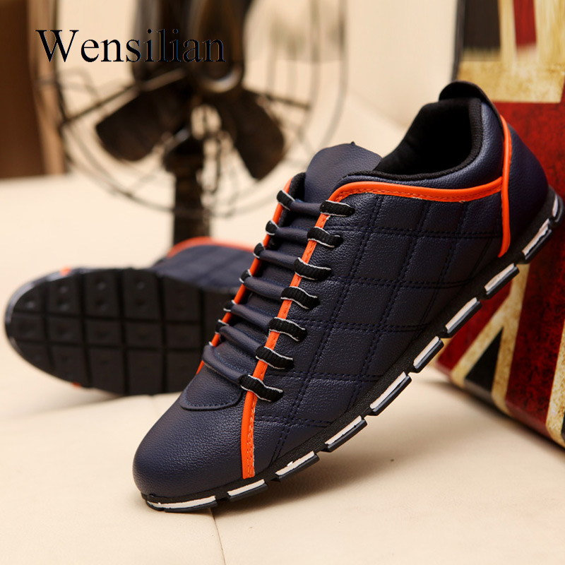 Summer Leather Shoes Men Flat Shoes Lightweight