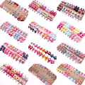 Wholesale 20pcs/lot Candy Color Solid/ Dot/ Print Bow Hairpin Hair Pin Clips Hair Elastic Bands Baby Girls Kid Hair Accessories