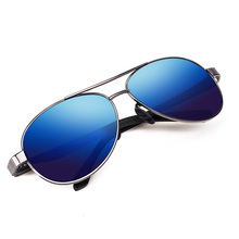 Mens Sunglasses New Brand Designer Alloy Polarized Driving Fashion Pilot Male With Case 7515Y