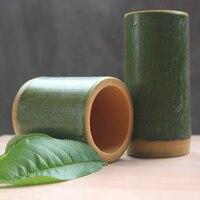 GIEMZA Bambusa Wazonie na Kwiaty Czysty Naturalny 100% Handmade 15 cm Niestandardowe Wazony Akcesoria Do Dekoracji Domu Ogród Garnki Dostosuj