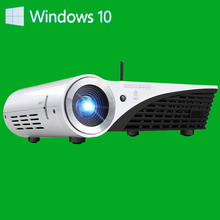 Win10 System DLP Projector Smart Beamer Bussiness Use 3D Projector Office With Dual Bluetooth Mini projector